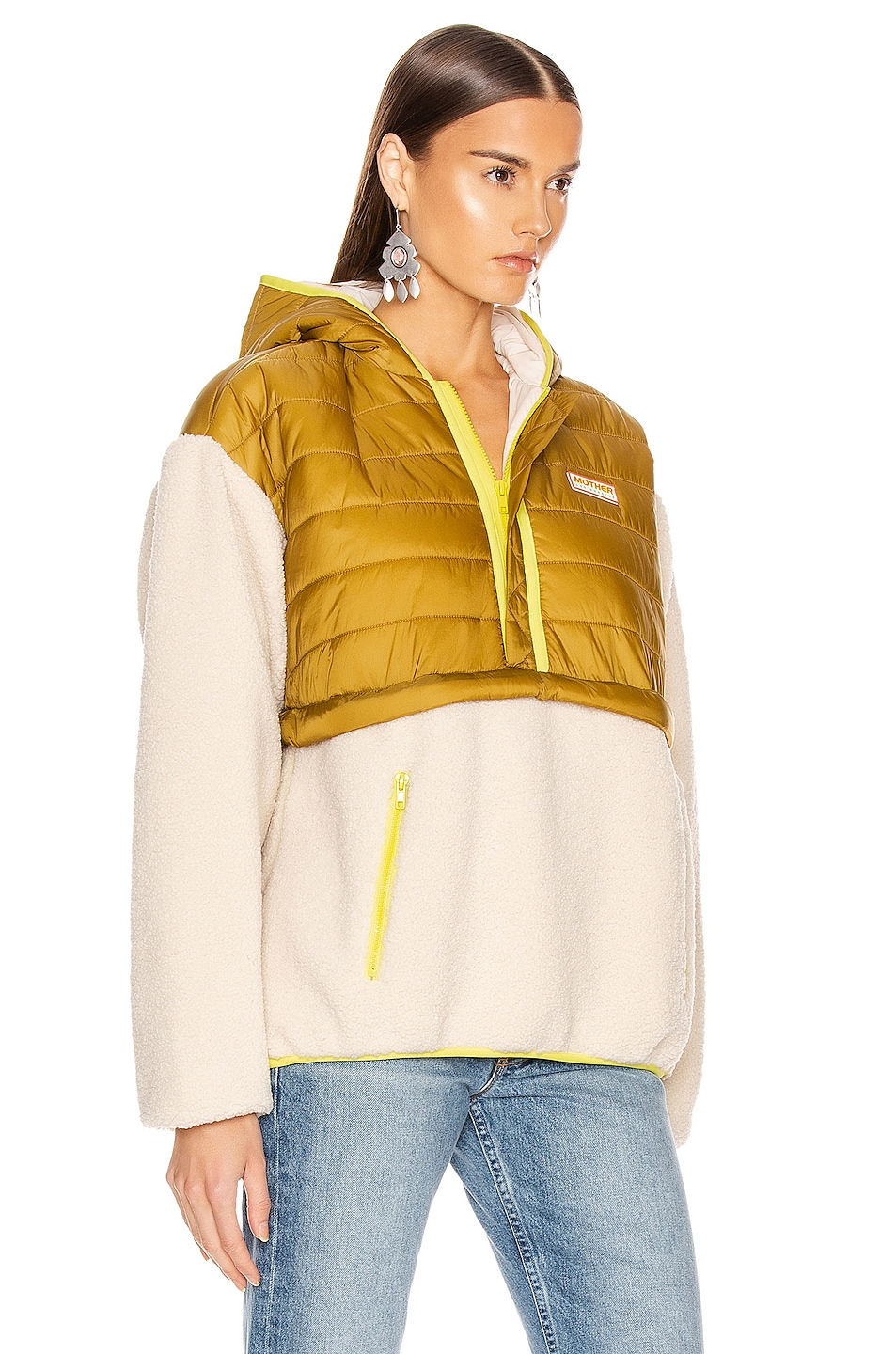 Image 2 of MOTHER Sher-Puff Zip Pullover in Beyond The Summit