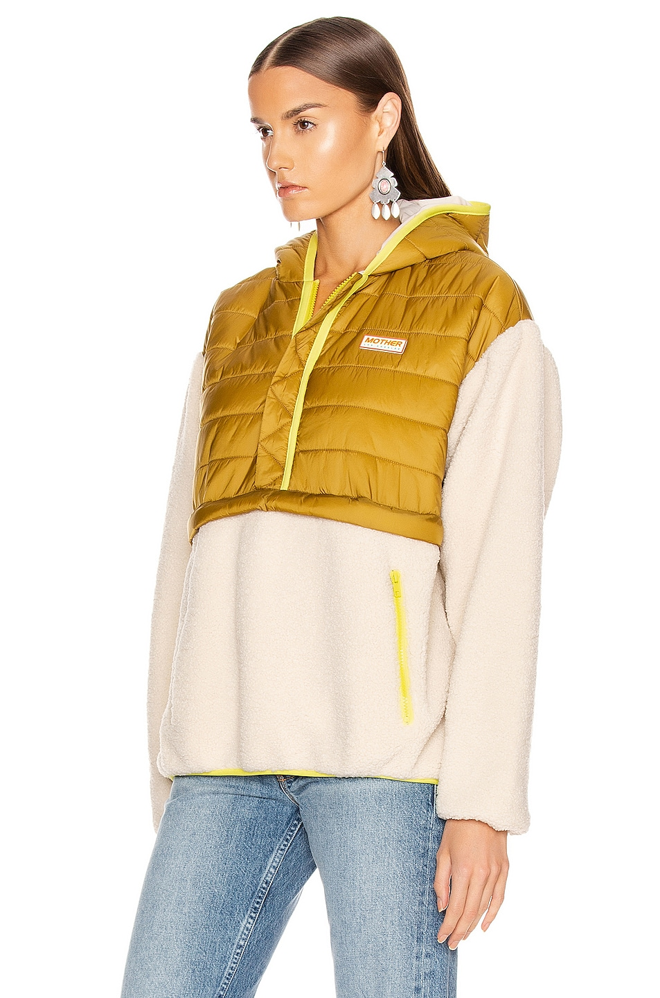 Image 3 of MOTHER Sher-Puff Zip Pullover in Beyond The Summit
