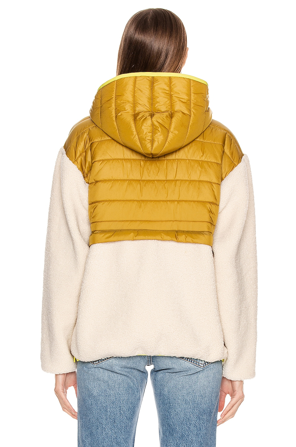 Image 4 of MOTHER Sher-Puff Zip Pullover in Beyond The Summit
