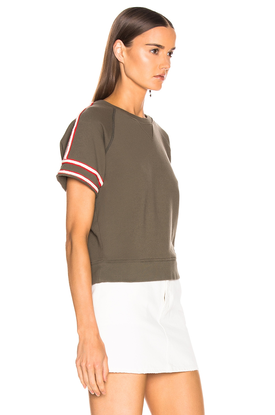 Image 2 of MOTHER Short Sleeve Square Sweatshirt in Caught Off Guard