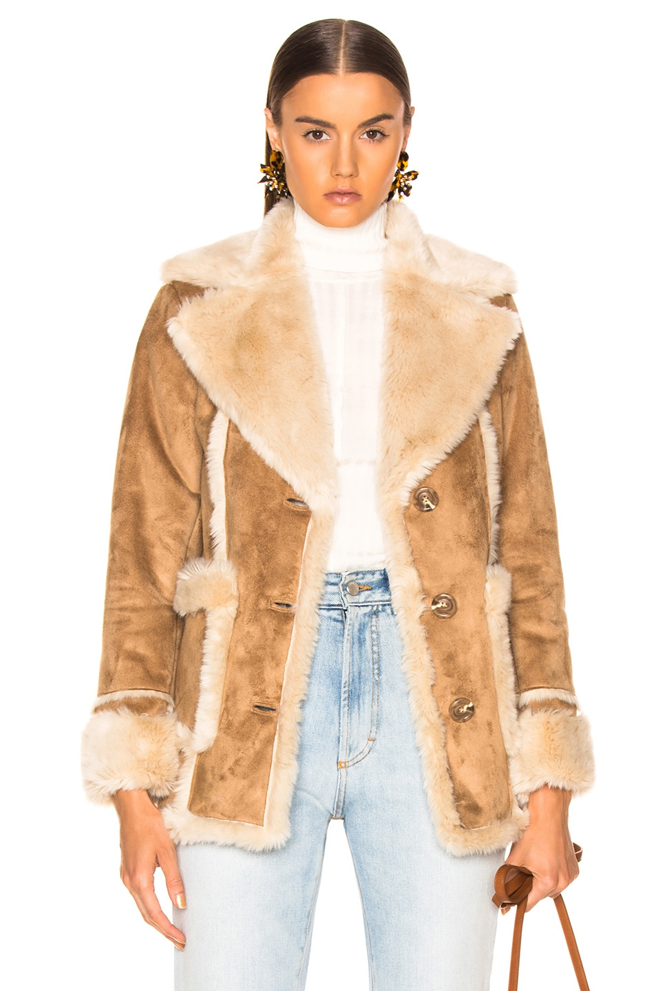 Image 1 of MOTHER Faux Fur Patch Pocket Trapper in Home On The Range