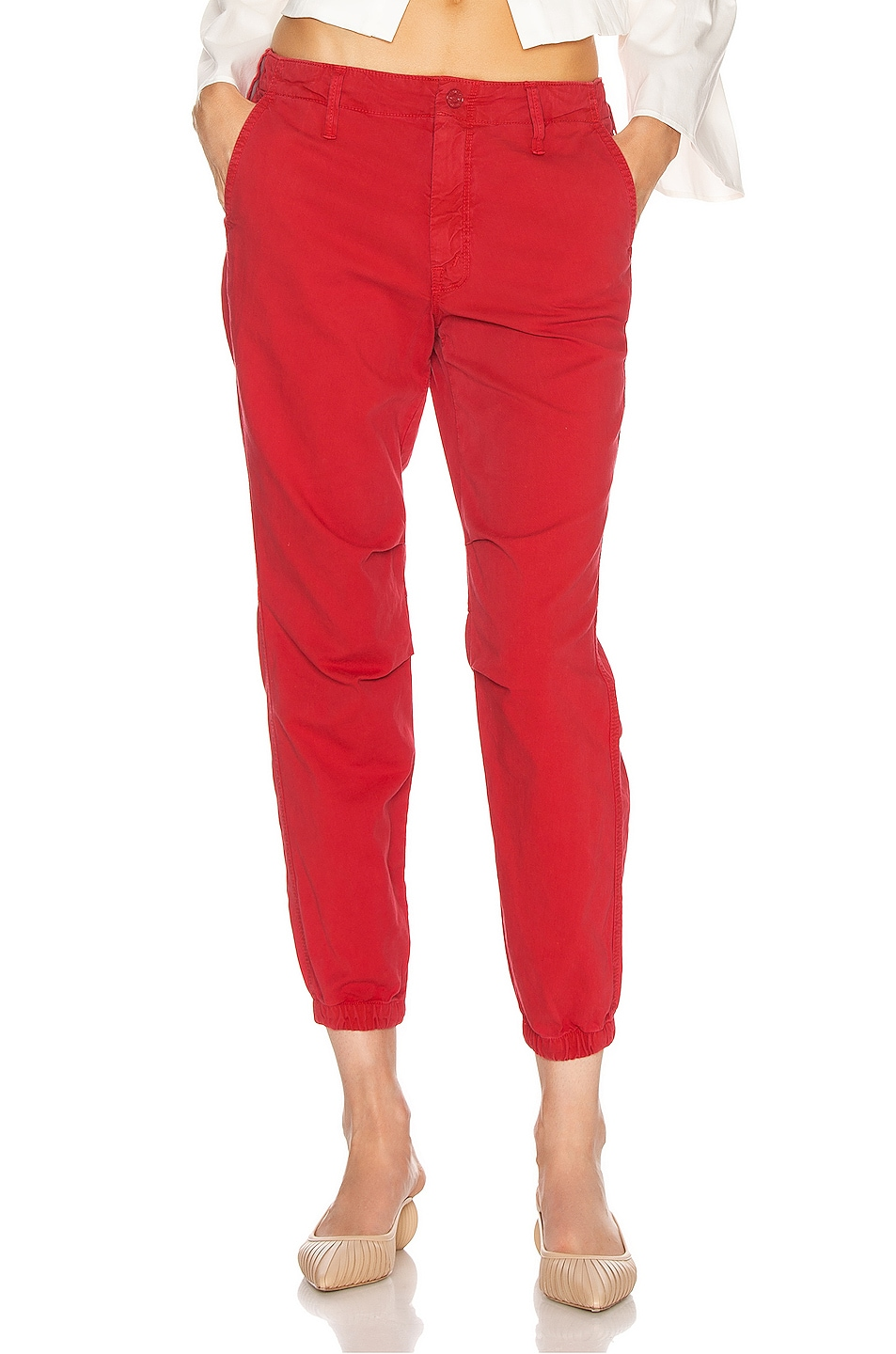 Image 1 of MOTHER The No Zip Misfit Pant in Marker