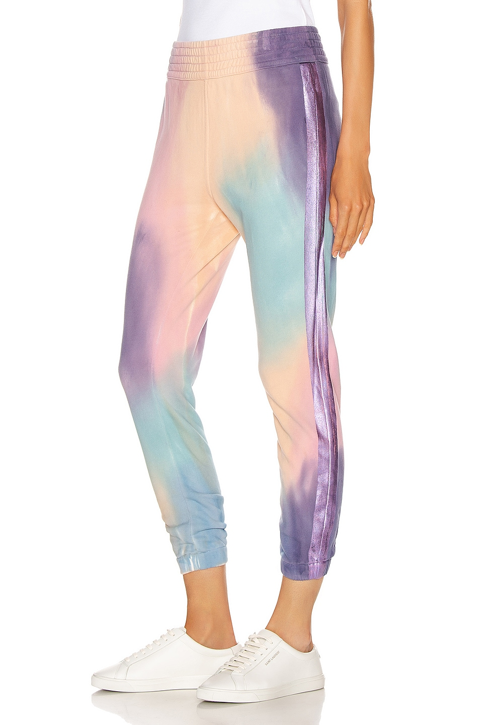 Image 1 of MOTHER The Springy Lounger Ankle Sweatpant in Let's Get Metaphysical