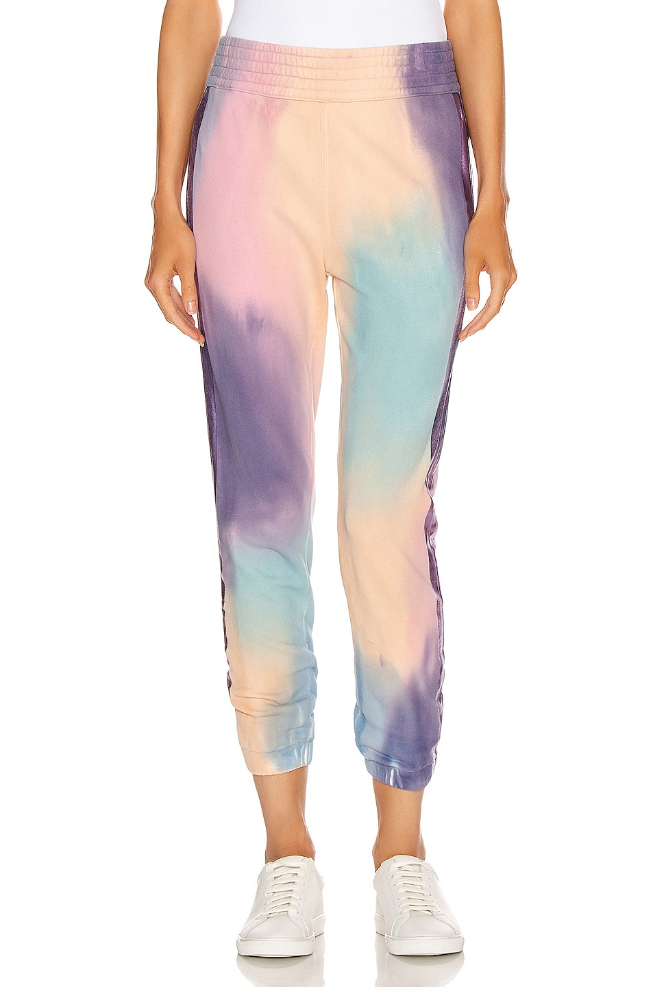 Image 2 of MOTHER The Springy Lounger Ankle Sweatpant in Let's Get Metaphysical
