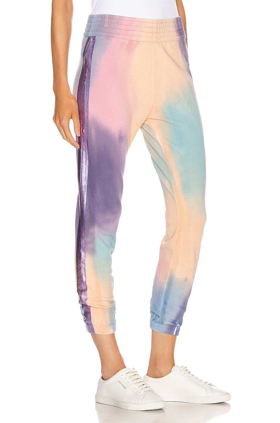 Image 3 of MOTHER The Springy Lounger Ankle Sweatpant in Let's Get Metaphysical