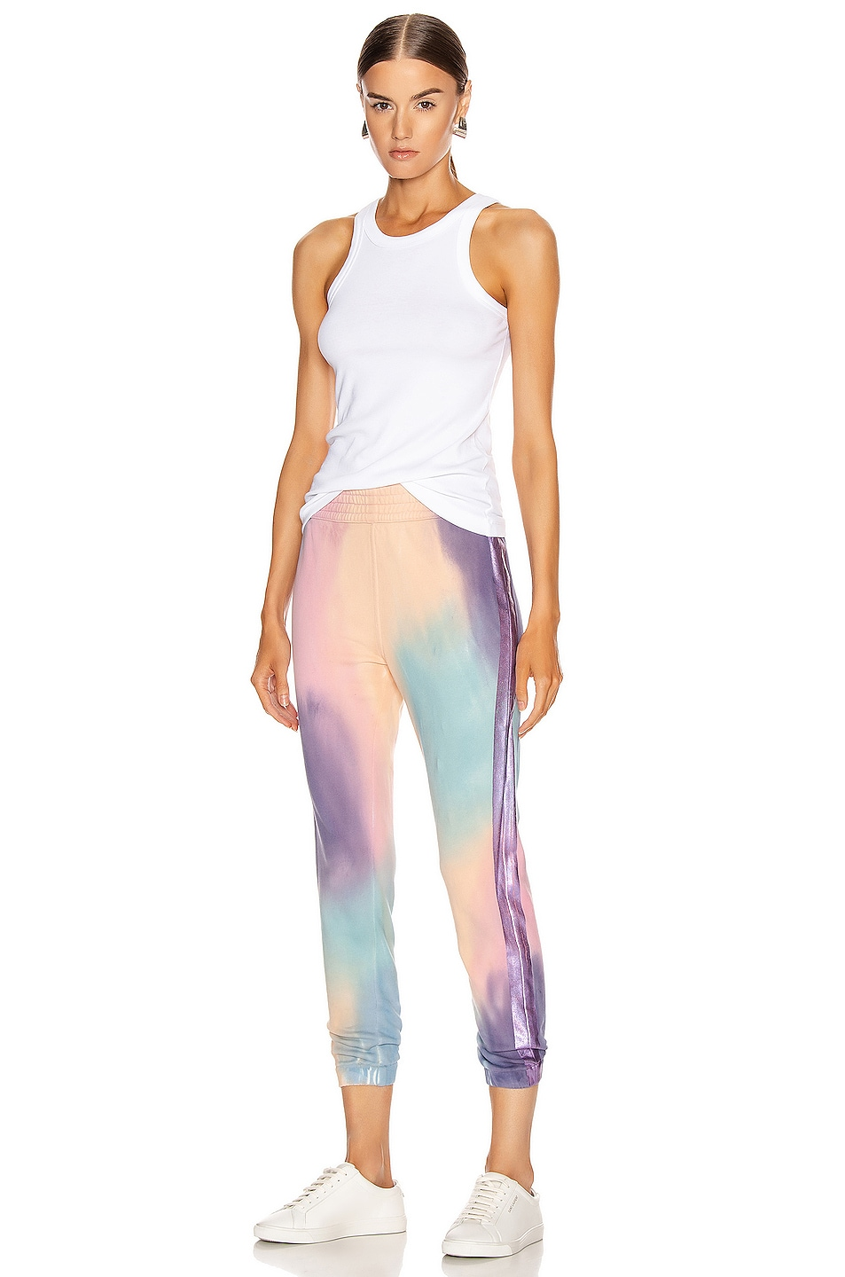 Image 5 of MOTHER The Springy Lounger Ankle Sweatpant in Let's Get Metaphysical