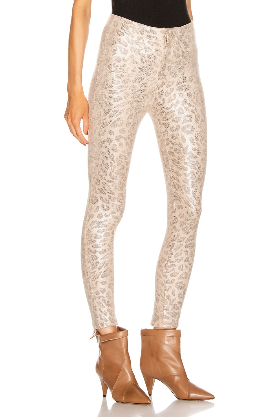Image 2 of MOTHER High Waisted Seamless Looker Ankle Pant in Running With A Sweet Talker