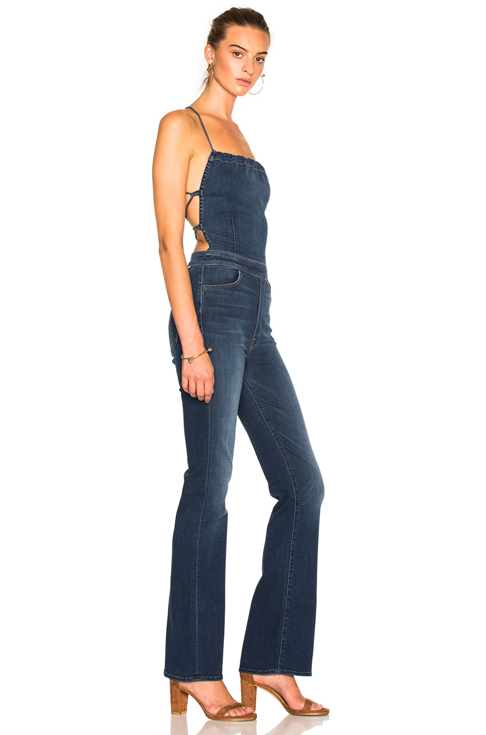 da4409fc956 Image 4 of MOTHER Tie Back Jumpsuit in Power Play