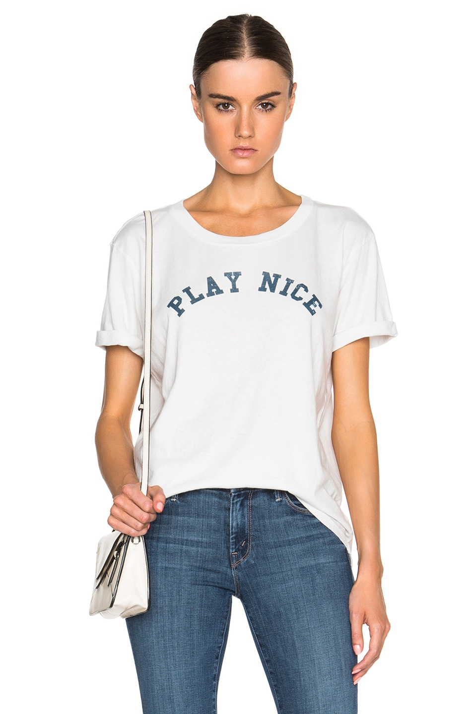 Image 1 of MOTHER x Kind Campaign Oversized Goodie Goodie Tee in Dirty White