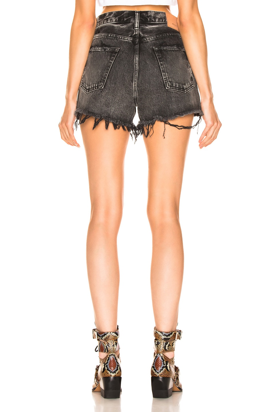 Image 3 of Moussy Vintage Hamilton Shorts in Black