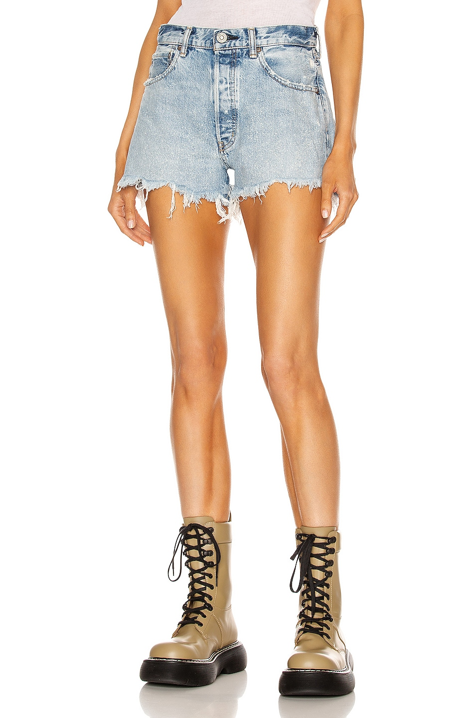 Image 1 of Moussy Vintage Bonnie Shorts in Blue