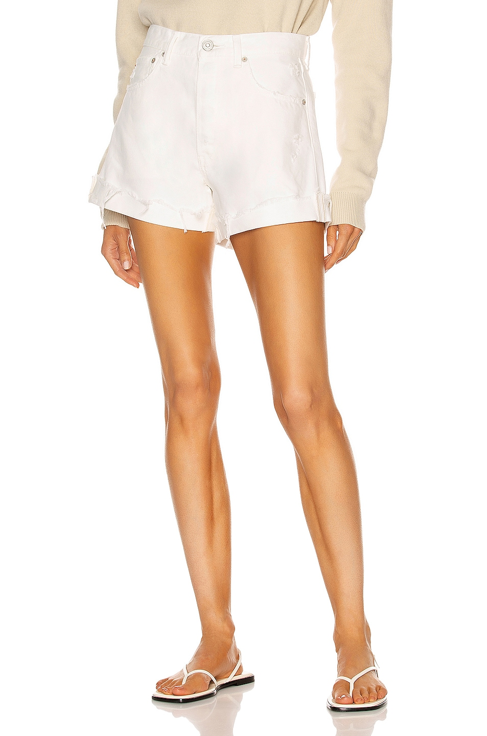 Image 1 of Moussy Vintage Ship Rock Shorts in White