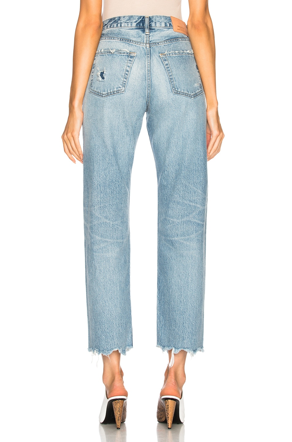 Image 3 of Moussy Vintage Loa Wide Straight in Light Blue