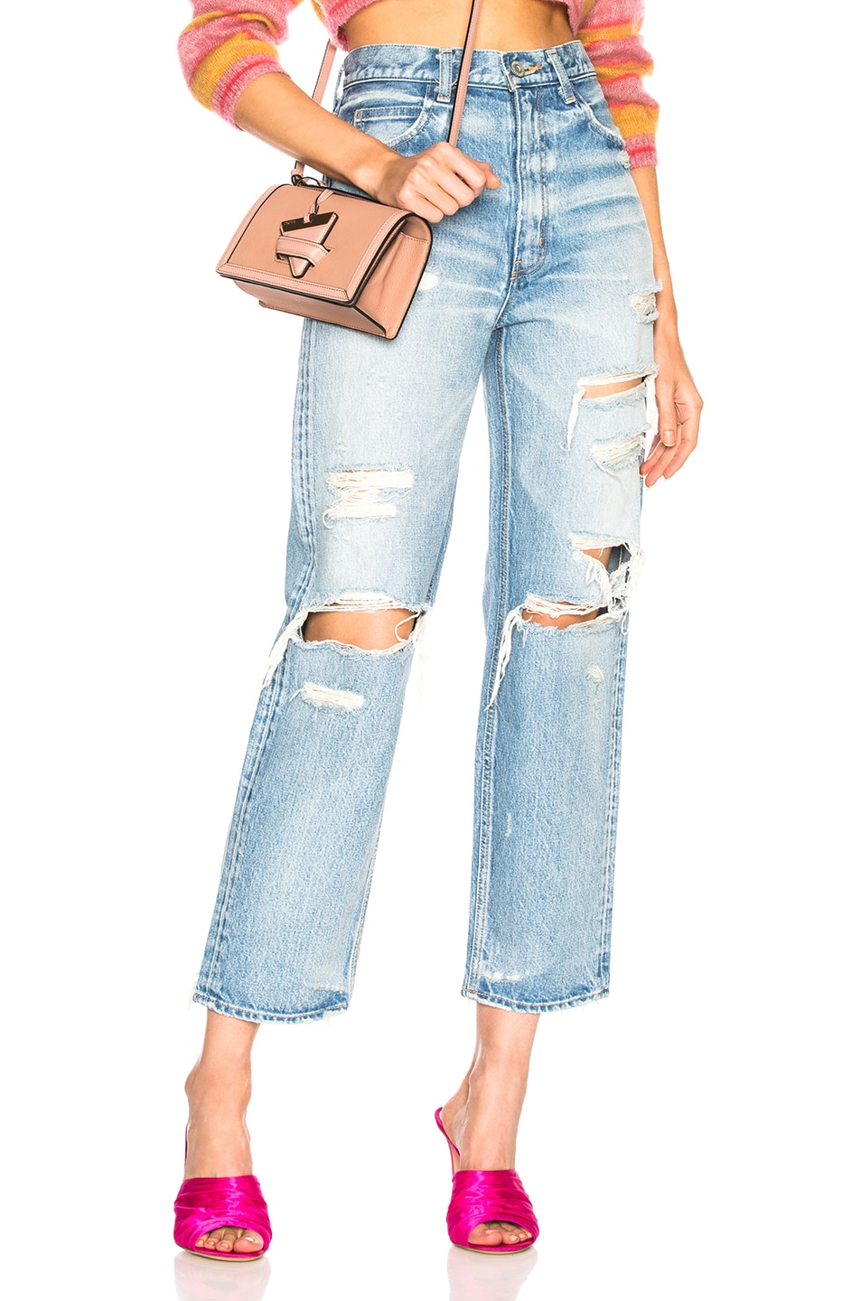MOUSSY Barron Tapered Jean in Blue