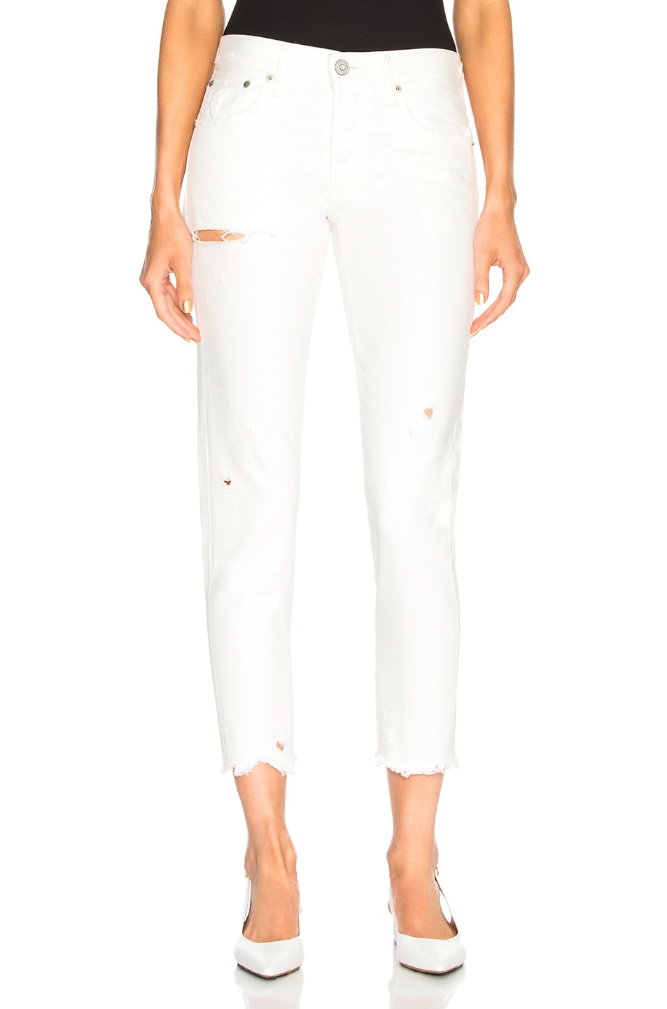 MOUSSY Kelley Tapered Jean in White
