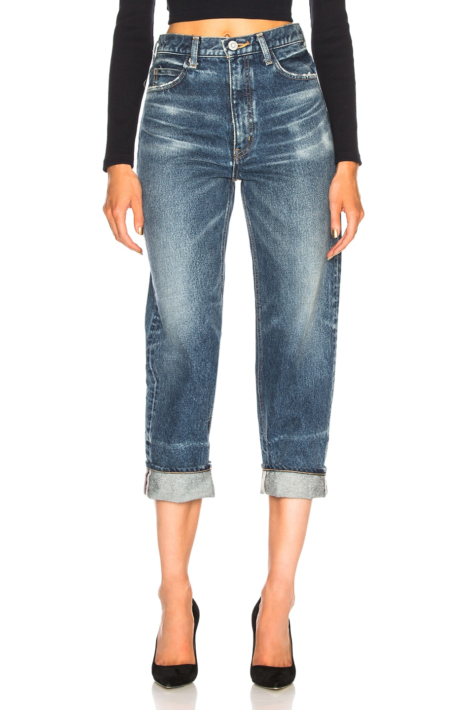 MOUSSY VINTAGE ORIN TAPERED STRAIGHT IN BLUE