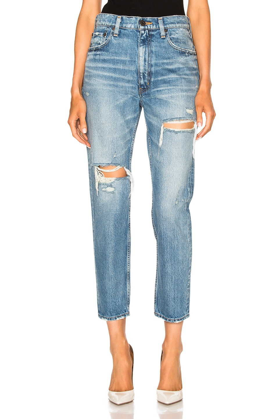 Image 1 of Moussy Vintage Bowie Skinny in Blue