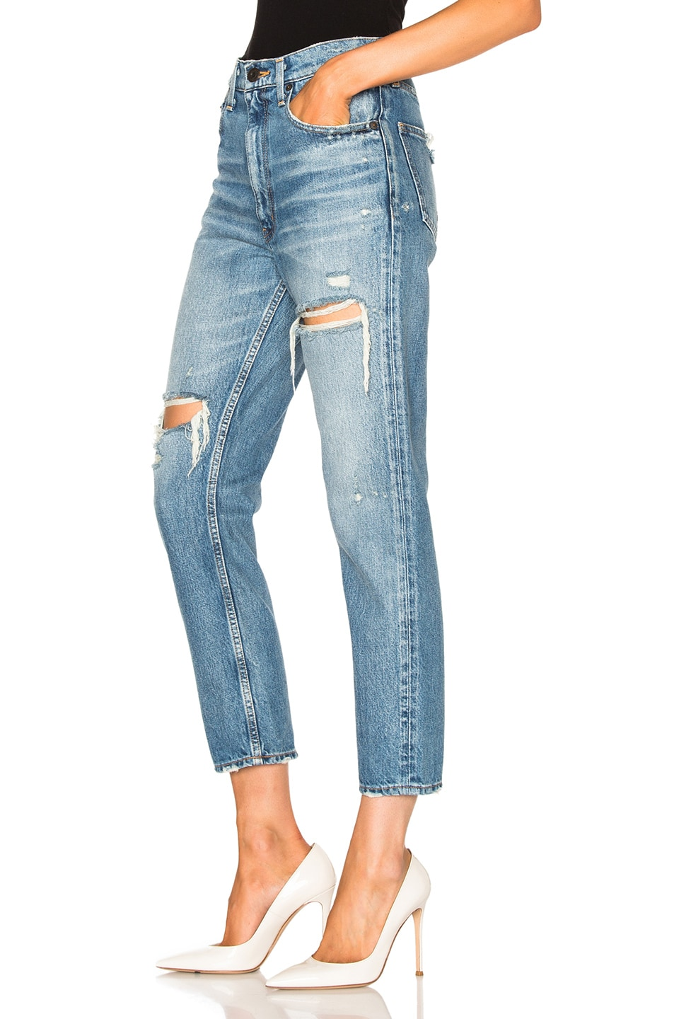 Image 2 of Moussy Bowie Skinny in Blue