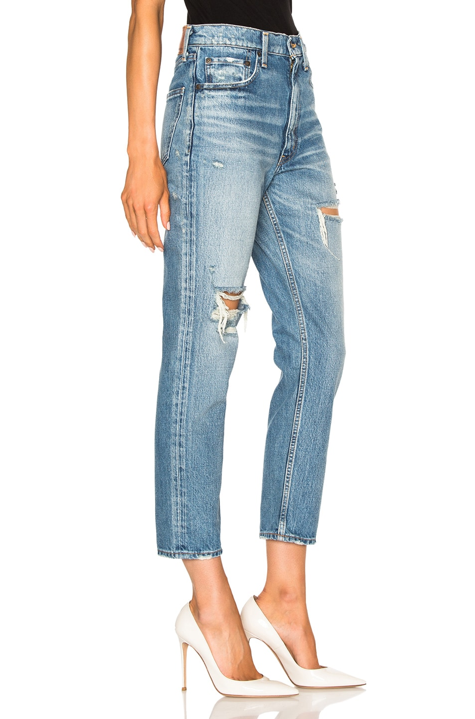 Image 3 of Moussy Bowie Skinny in Blue