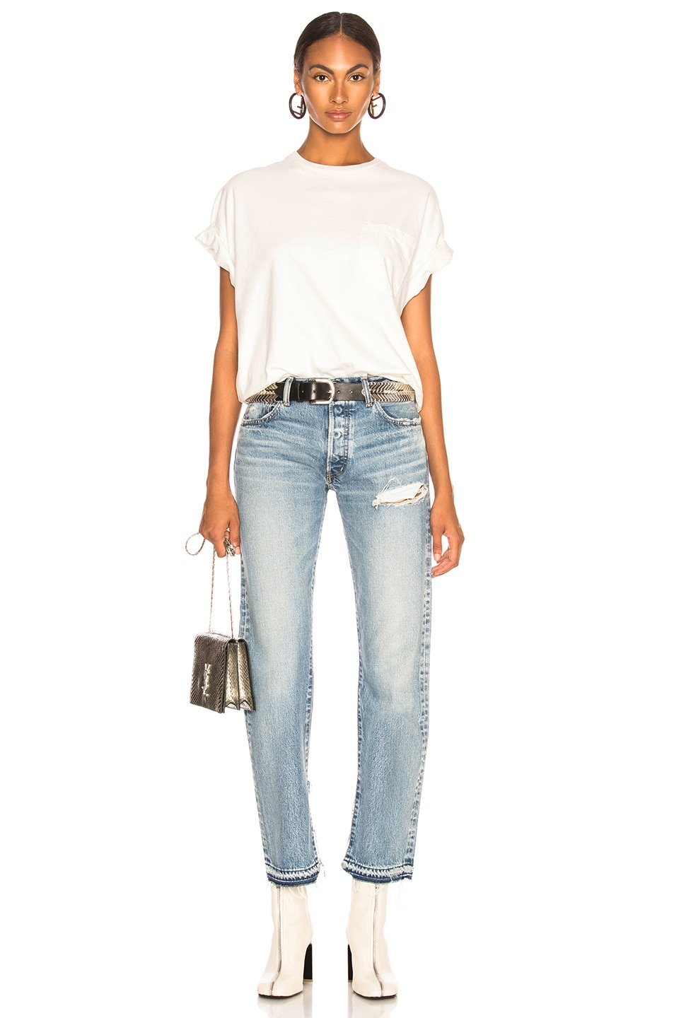 Image 4 of Moussy Vintage Mayer Straight in Blue
