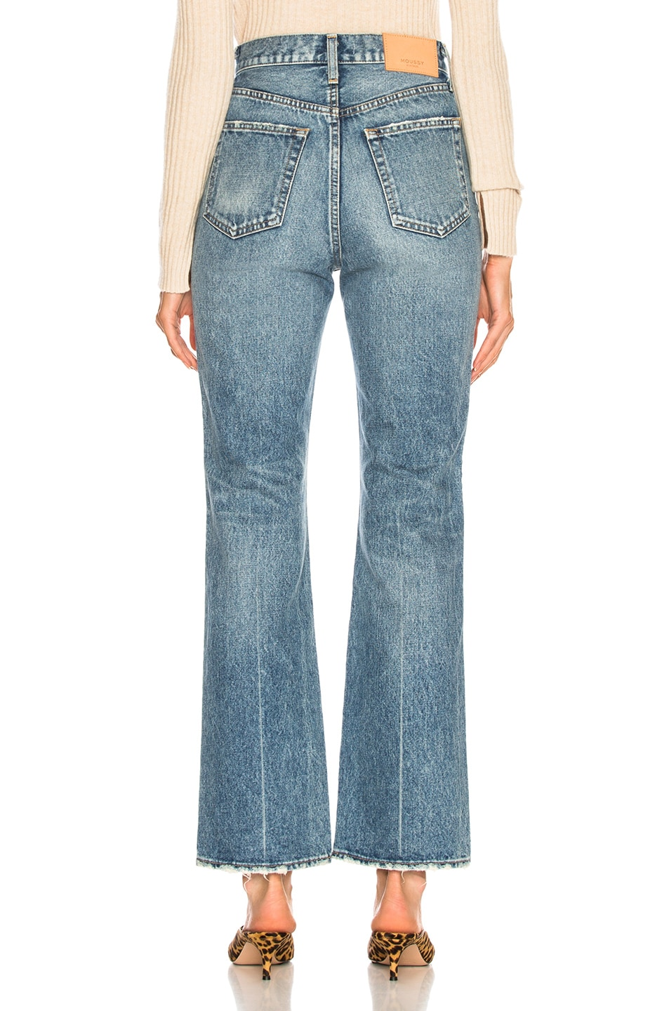 Image 3 of Moussy Vintage Luna Straight Flare in Blue