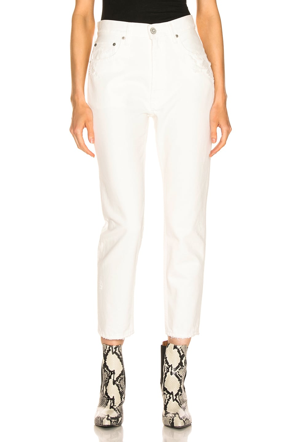 Image 1 of Moussy Vintage Bishop Boy Skinny in White