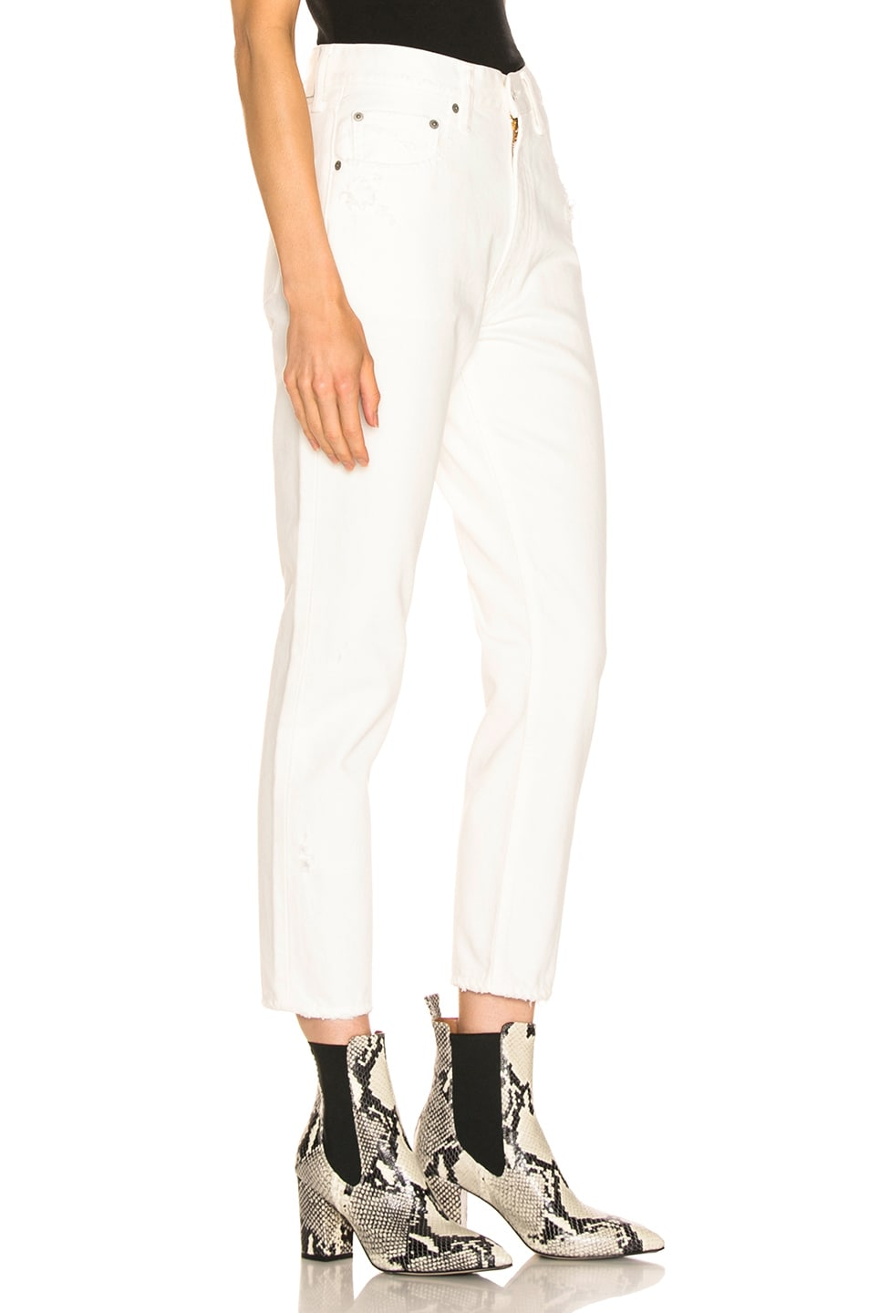 Image 2 of Moussy Vintage Bishop Boy Skinny in White