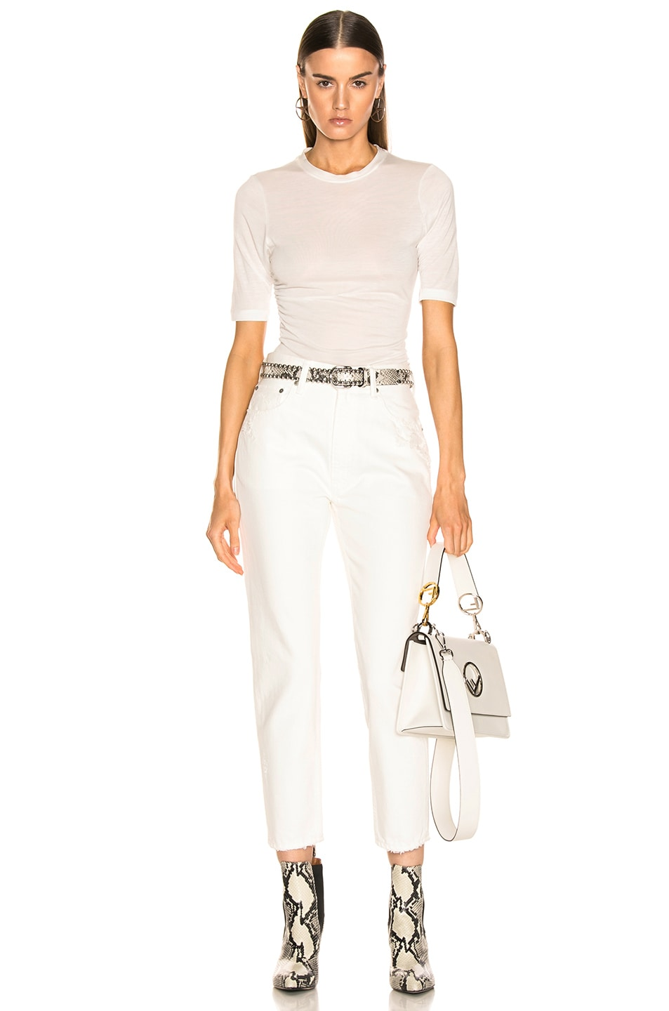 Image 4 of Moussy Vintage Bishop Boy Skinny in White