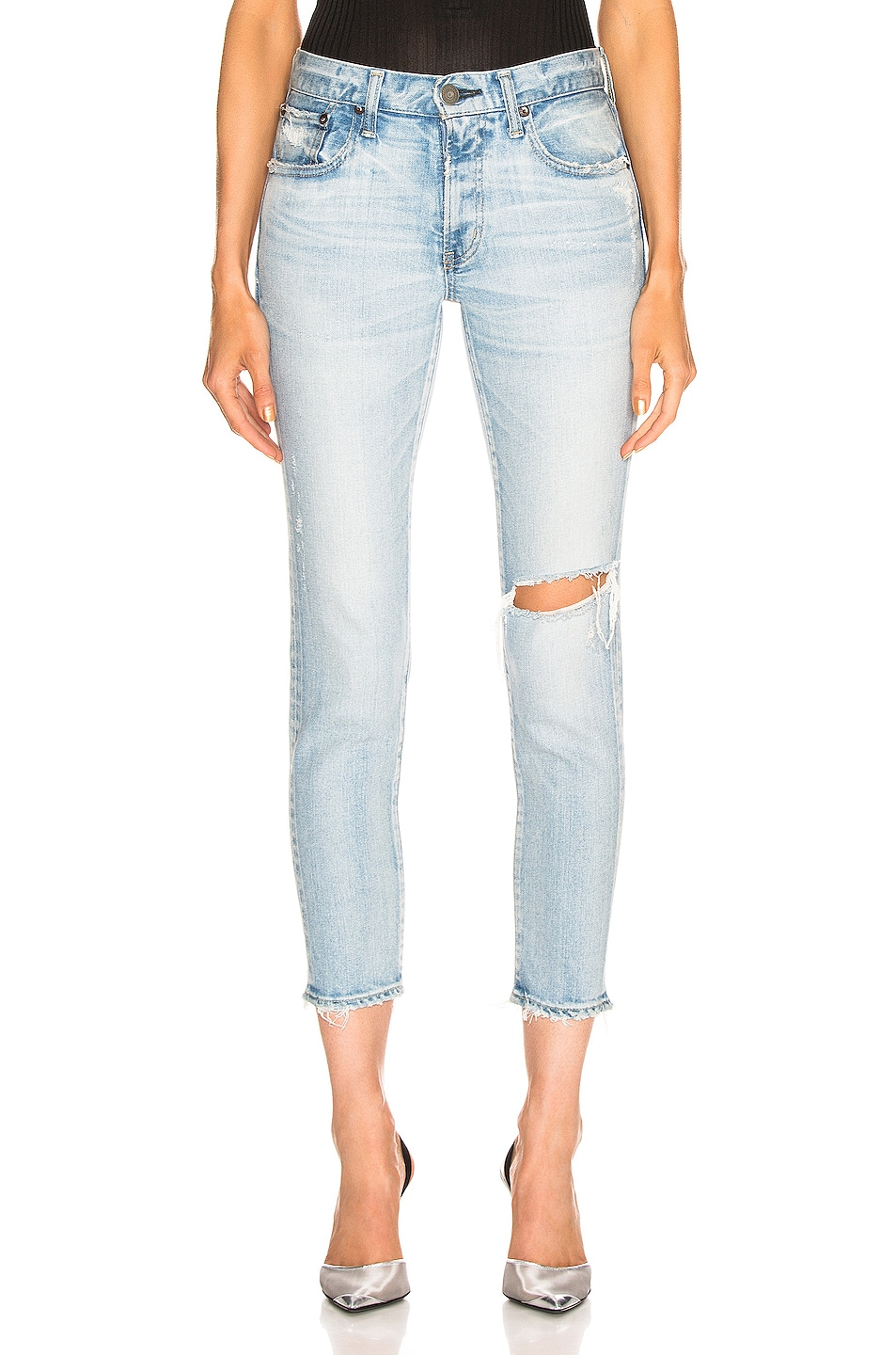 Image 1 of Moussy Vintage Vivian Skinny in Light Blue
