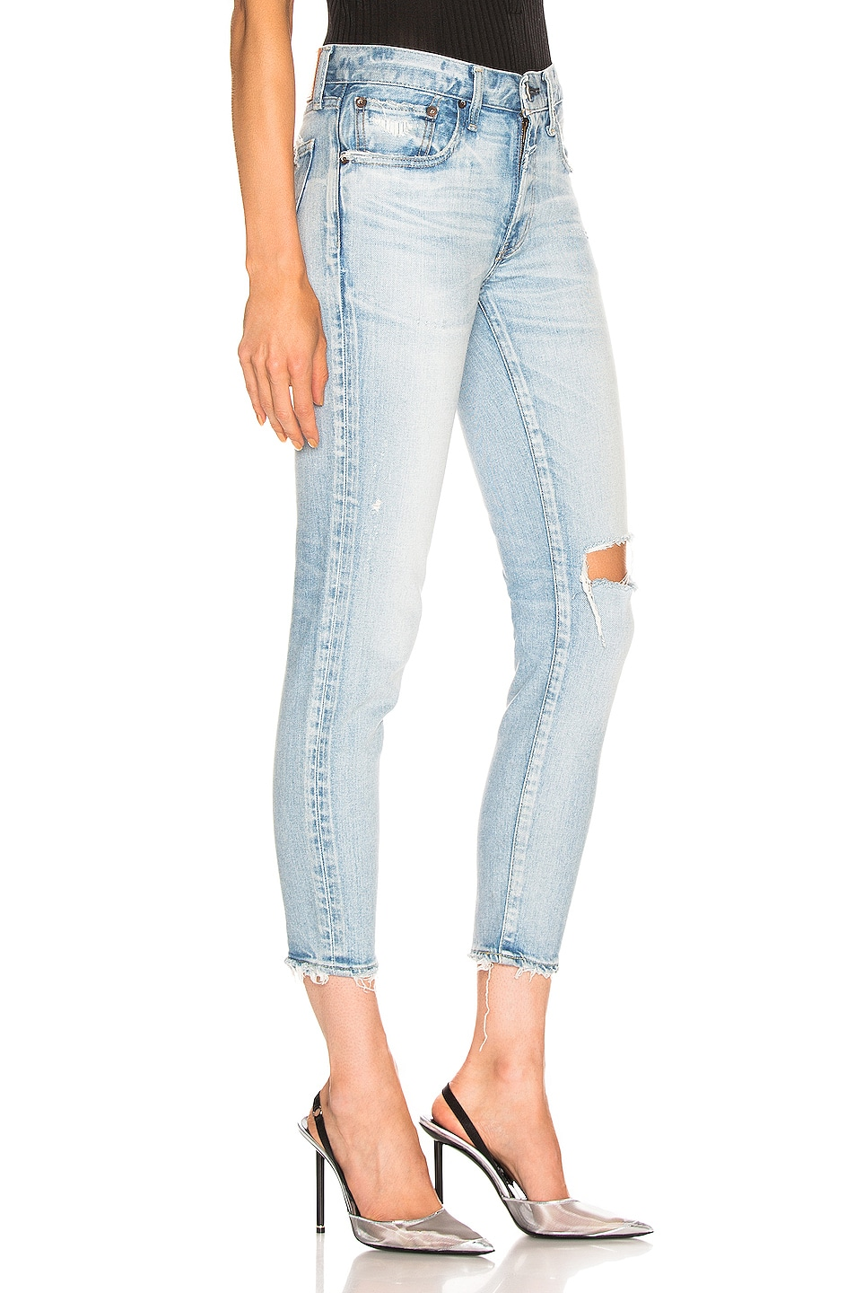Image 2 of Moussy Vintage Vivian Skinny in Light Blue