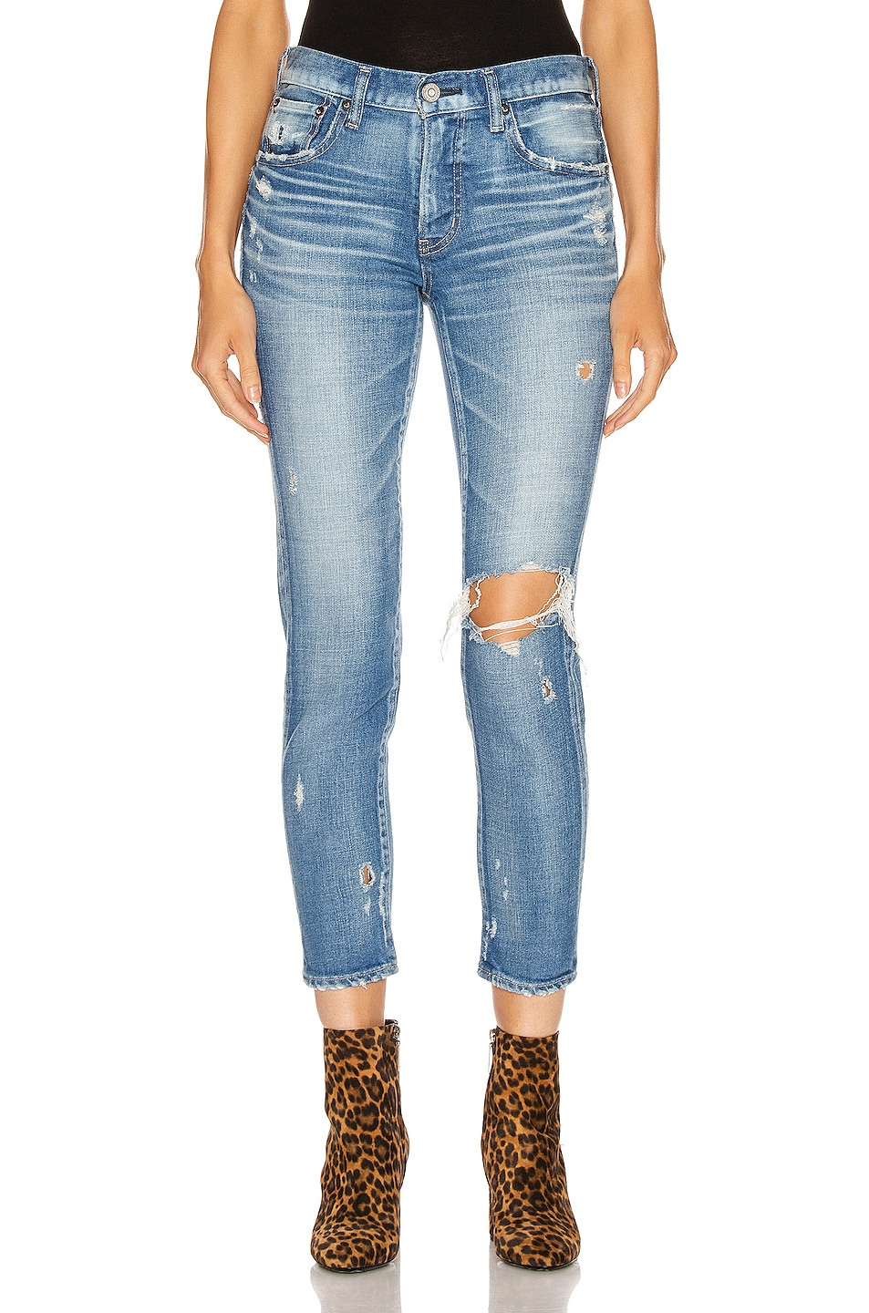 Image 1 of Moussy Vintage Helendale Skinny in Light Blue