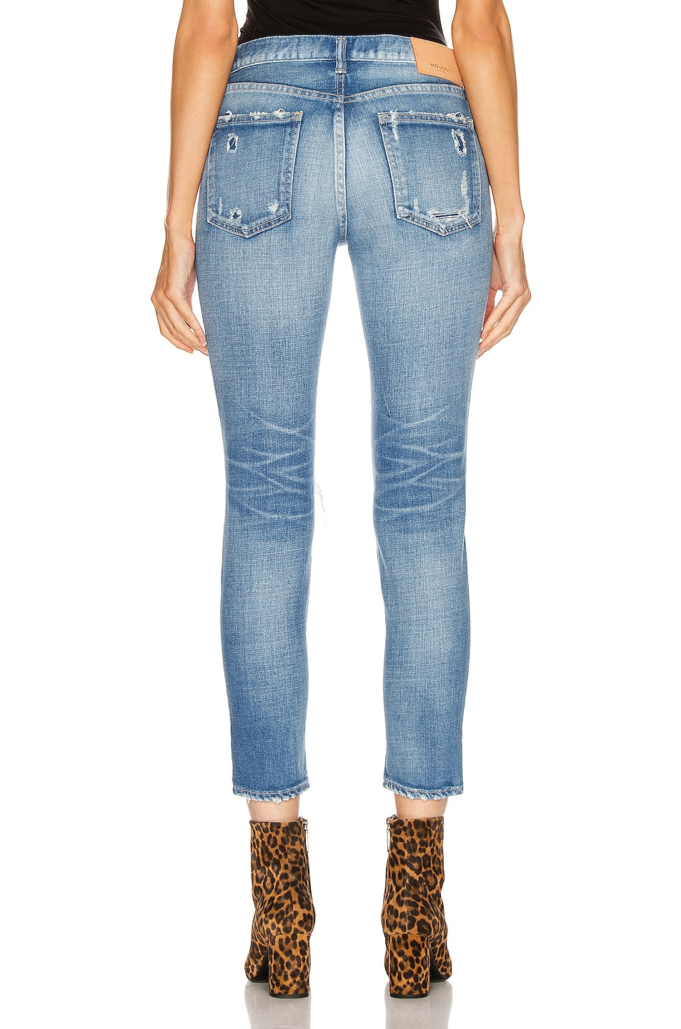 Image 3 of Moussy Vintage Helendale Skinny in Light Blue