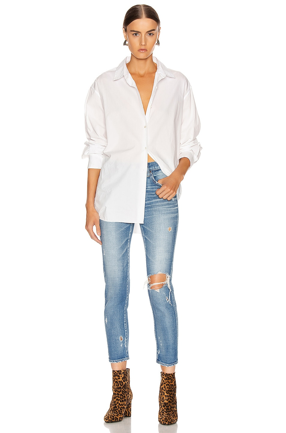 Image 4 of Moussy Vintage Helendale Skinny in Light Blue