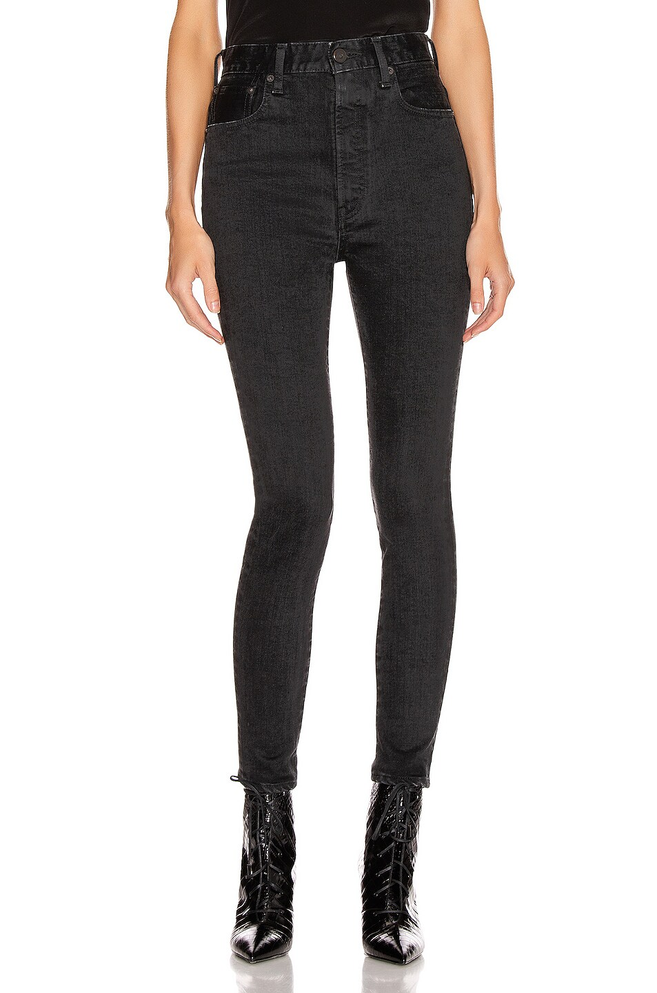 Image 1 of Moussy Vintage Filer Rebirth Skinny in Light Black