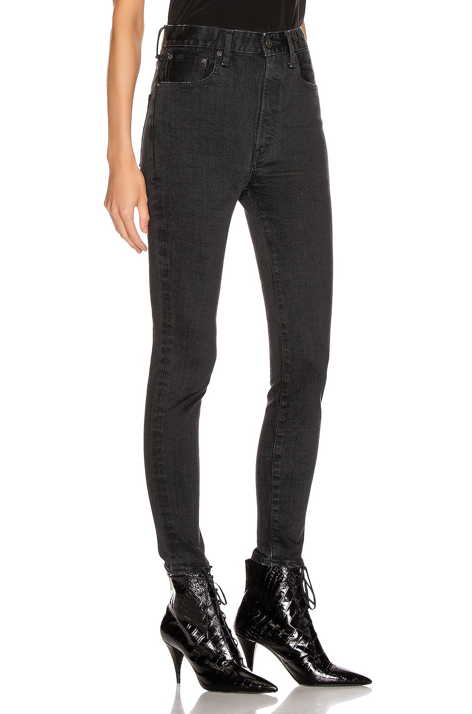 Image 2 of Moussy Vintage Filer Rebirth Skinny in Light Black