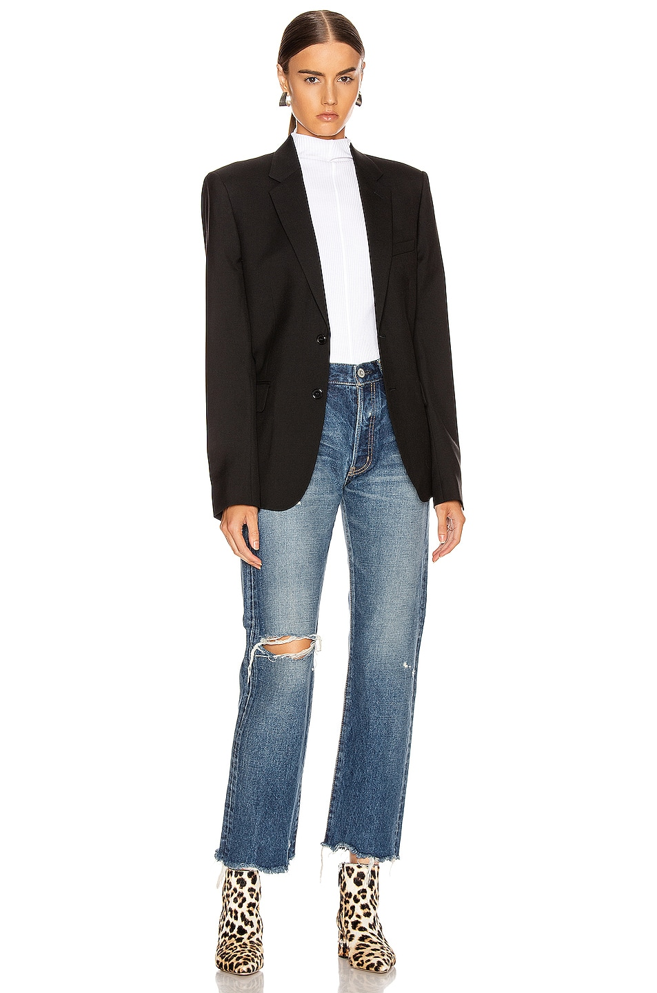 Image 4 of Moussy Vintage Guilford Straight Leg in Blue