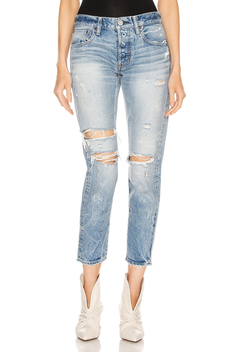 Image 1 of Moussy Vintage Wilburtha Tapered in Blue