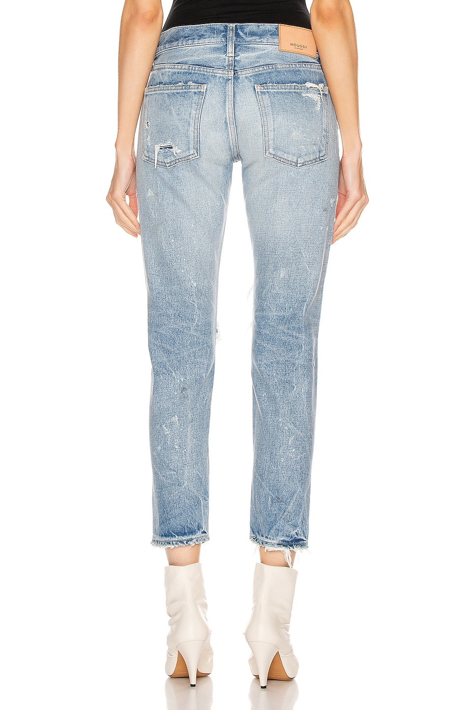Image 3 of Moussy Vintage Wilburtha Tapered in Blue
