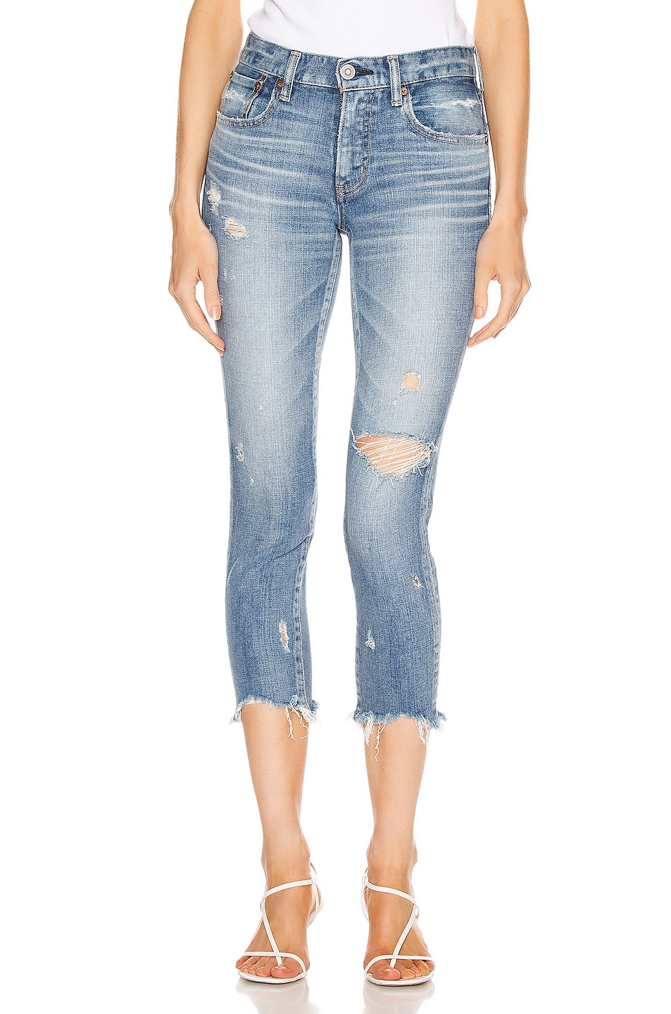 Image 1 of Moussy Vintage Glendele Skinny in Light Blue
