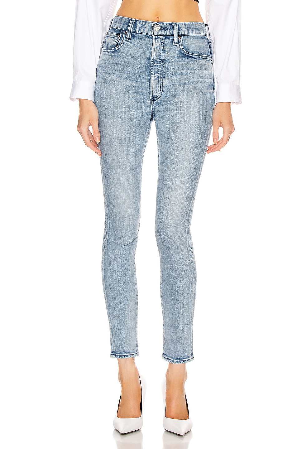 Image 1 of Moussy Vintage Milroy Rebirth Skinny in Light Blue