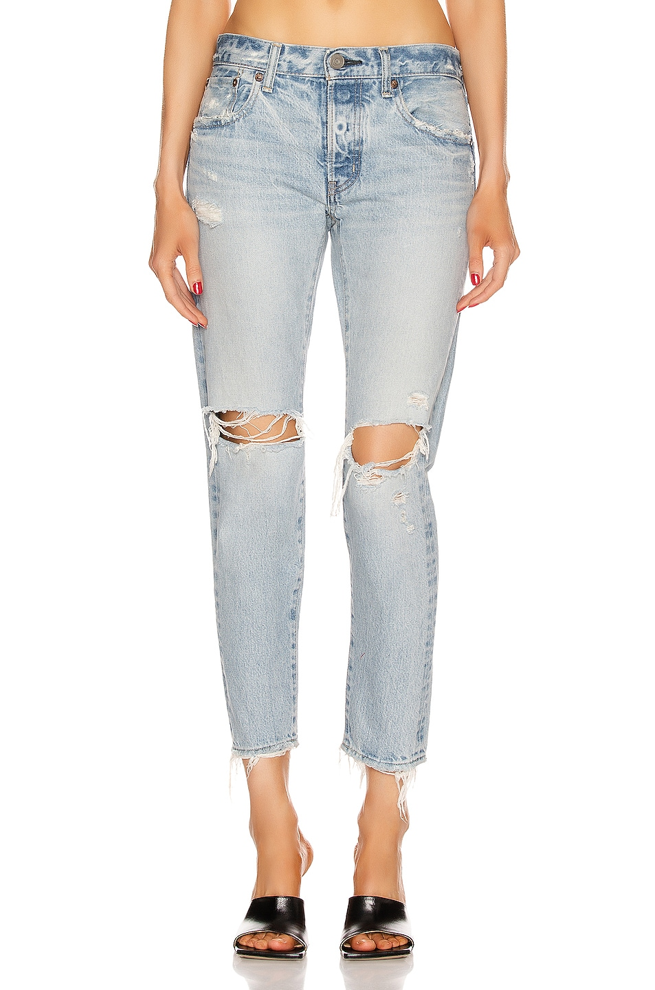 Image 1 of Moussy Vintage Yardley Tapered in Light Blue