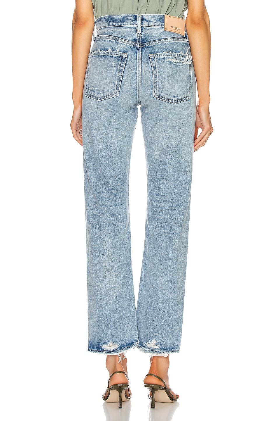 Image 3 of Moussy Vintage Hesperia Straight in Light Blue