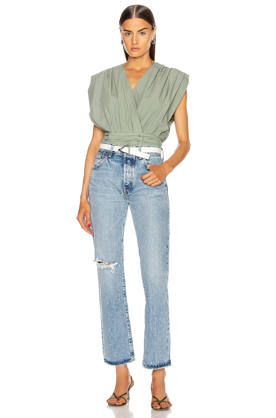 Image 4 of Moussy Vintage Hesperia Straight in Light Blue
