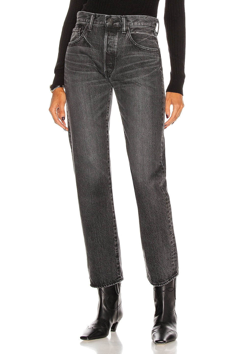 Image 1 of Moussy Vintage Boothbay Straight in Black