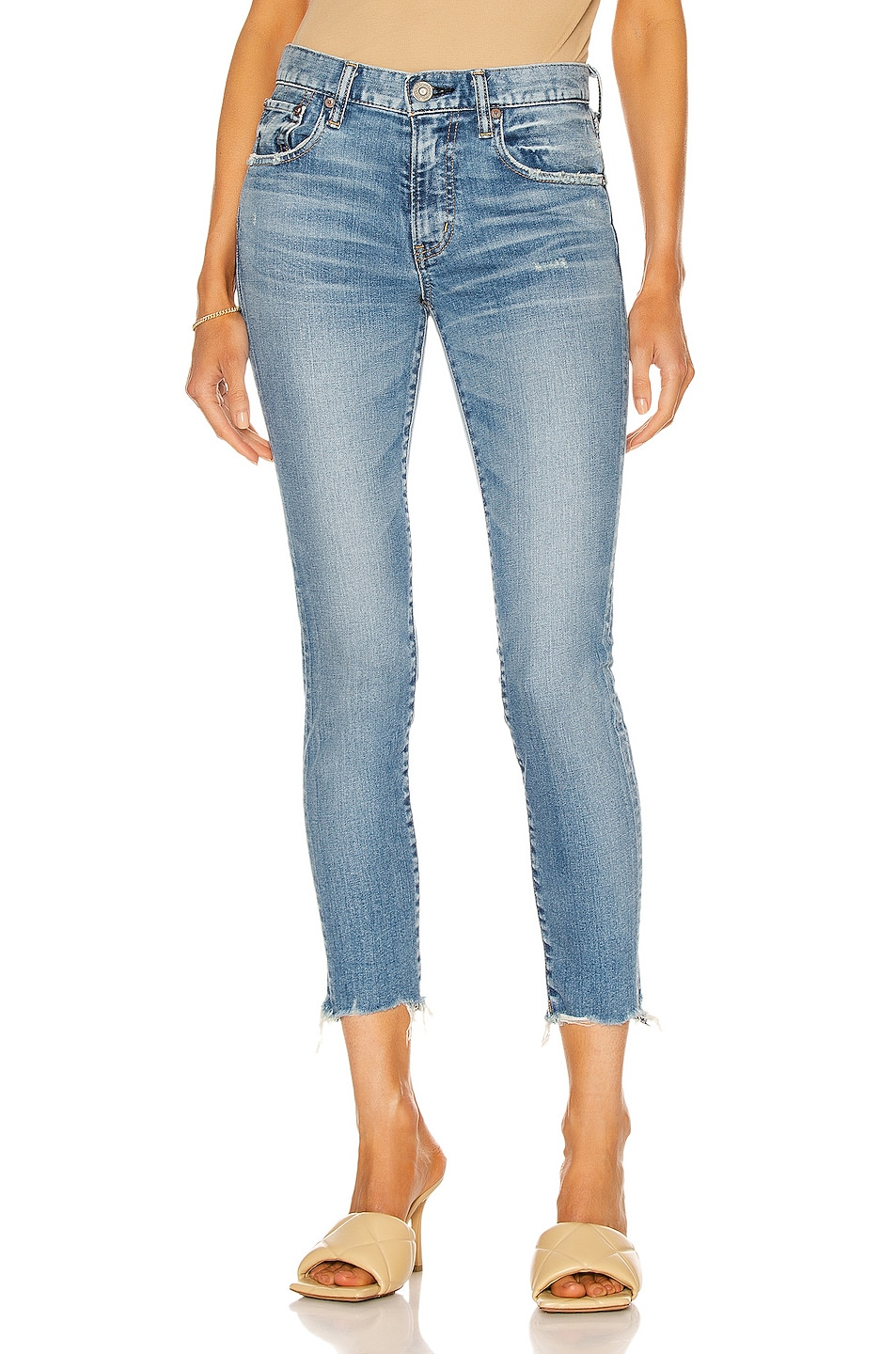 Image 1 of Moussy Vintage Tyrone Skinny in Light Blue