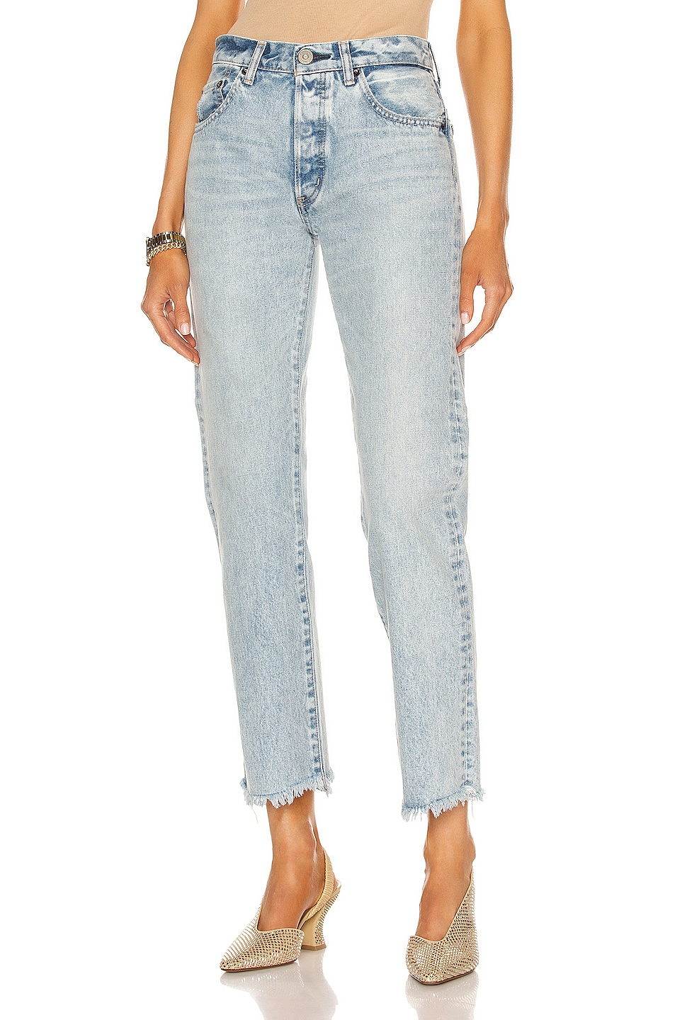Image 1 of Moussy Vintage Peoria Straight in Light Blue