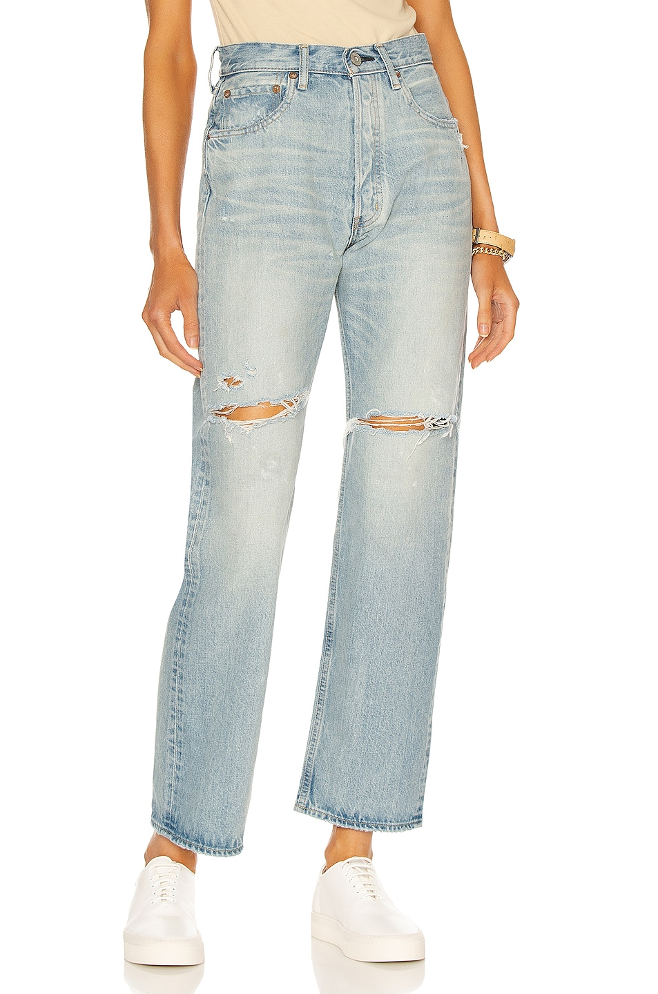 Image 1 of Moussy Vintage Teaneck Wide Straight in Light Blue