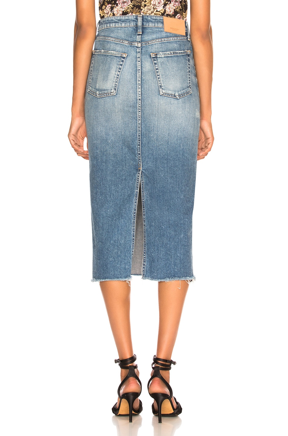 Image 3 of Moussy Vintage Comfort Norman Long Skirt in Blue