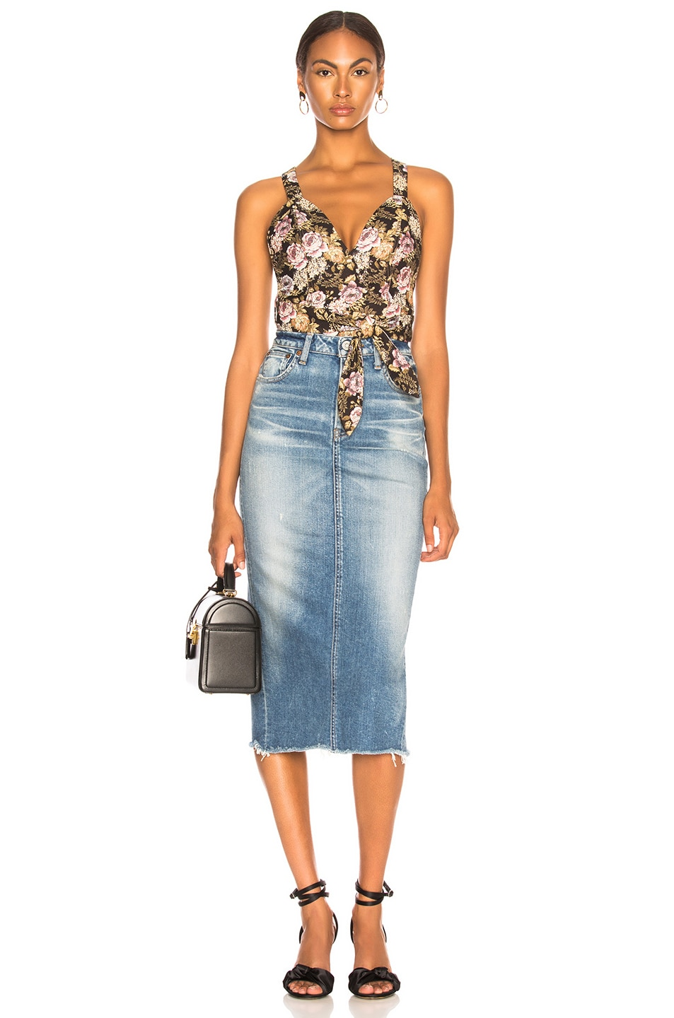 Image 4 of Moussy Vintage Comfort Norman Long Skirt in Blue