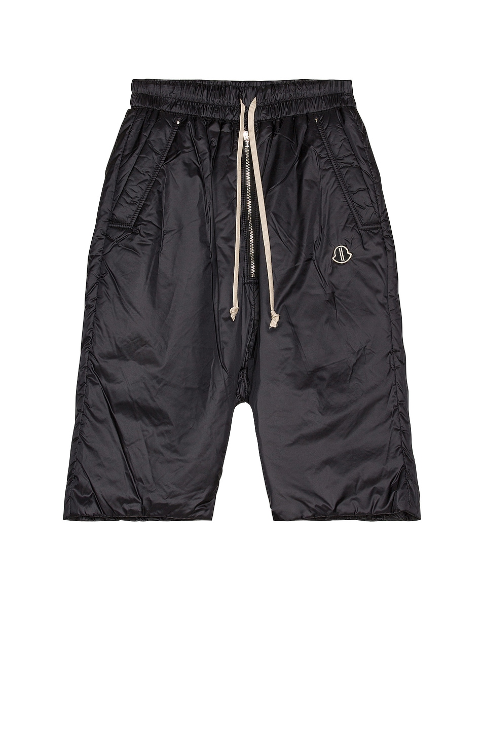 Image 1 of Moncler + Rick Owens Pod Length Belas Short in Black